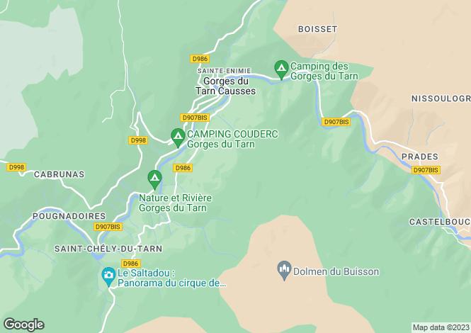 Map for Ste-Énimie, Lozère, Languedoc-Roussillon