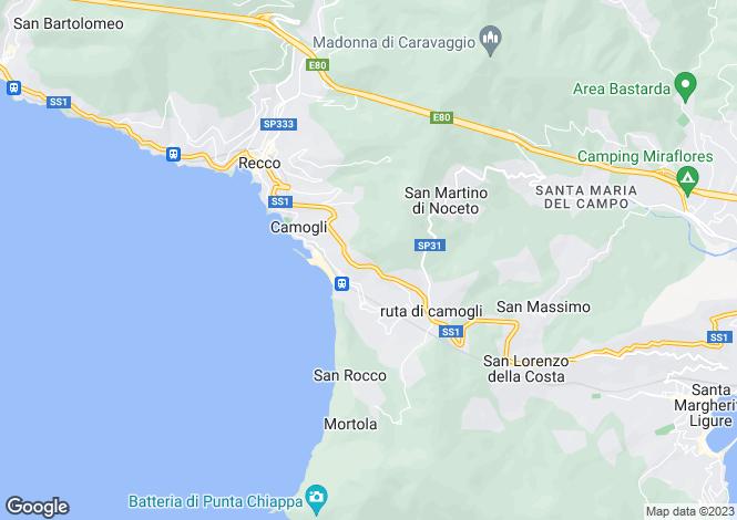 Map for Italy - Liguria, Genoa, Camogli