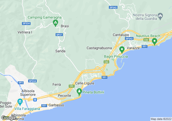 Map for Liguria, Savona, Celle Ligure