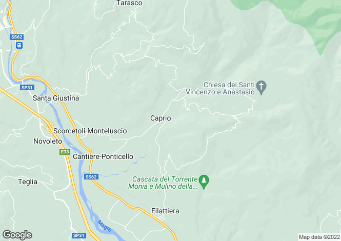 Map for Tuscany, Massa e Carrara, Filattiera