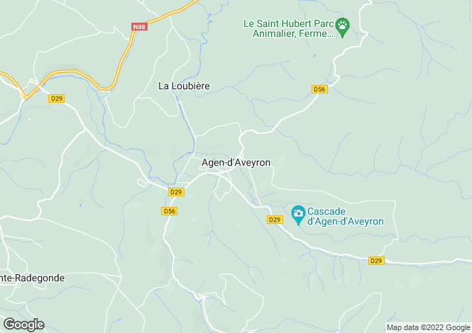Map for Midi-Pyrenees, Aveyron, Agen-d'Aveyron