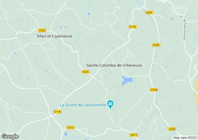Map for Sainte-Colombe-de-Villeneuve, Lot-et-Garonne