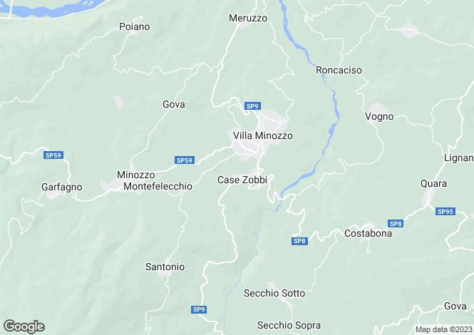 Map for Emilia-Romagna, Reggio nell`Emilia, Villa Minozzo