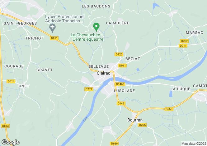 Map for Secteur: Clairac, Lot-et-Garonne