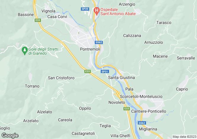 Map for Tuscany, Lunigiana, Pontremoli