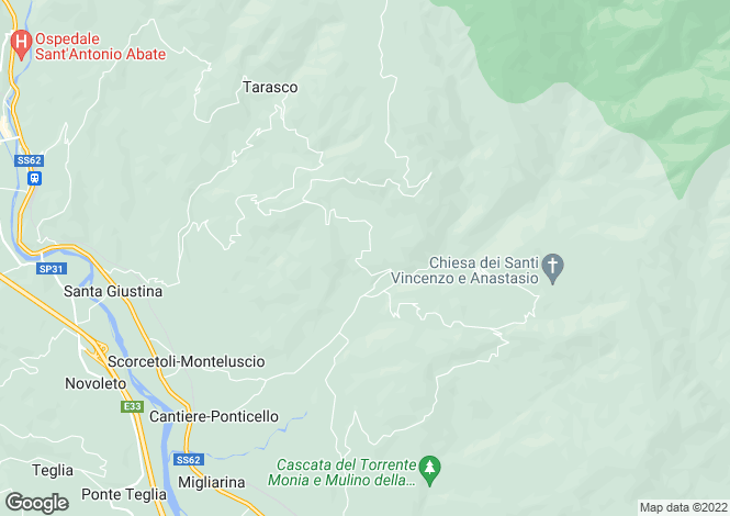 Map for Tuscany, Lunigiana, Filattiera