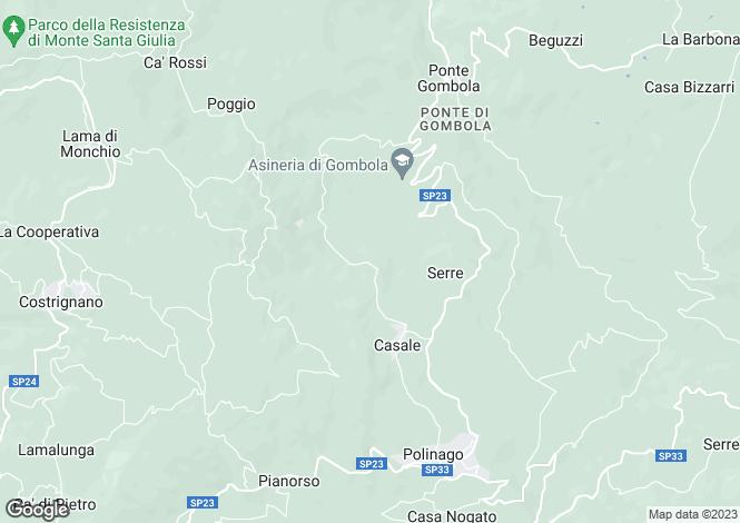Map for Emilia-Romagna, Modena, Polinago