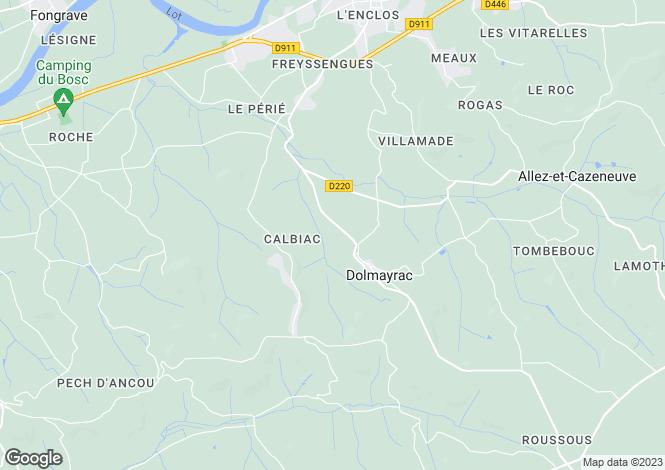 Map for dolmayrac, Lot-et-Garonne, France