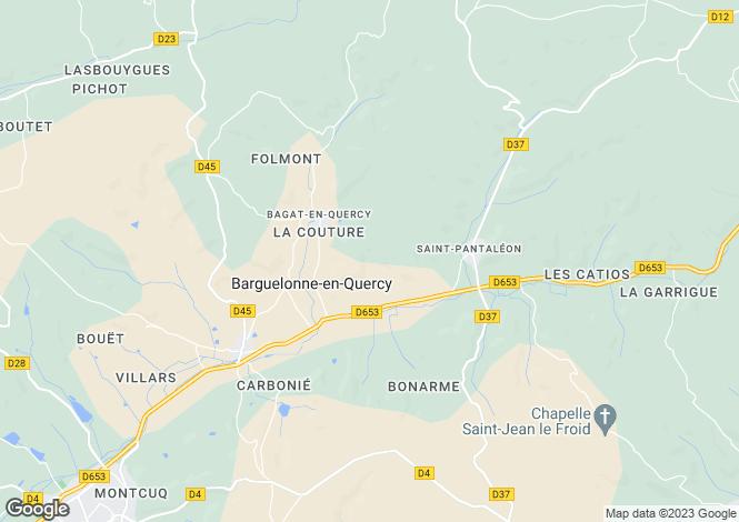 Map for Midi-Pyrénées, Lot, St-Daunès
