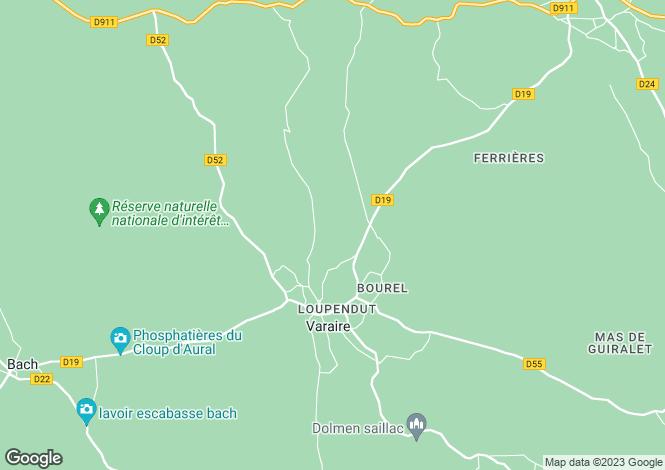 Map for Midi-Pyrénées, Lot, Varaire