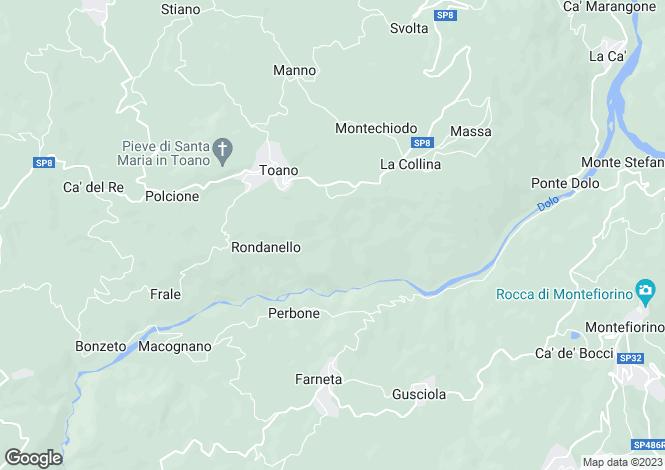 Map for Emilia-Romagna, Reggio nell`Emilia, Toano