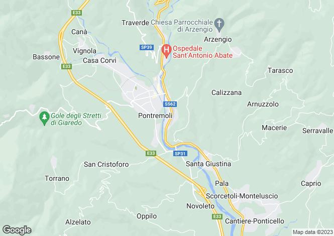 Map for Borgo Val di Taro, Parma, Emilia-Romagna