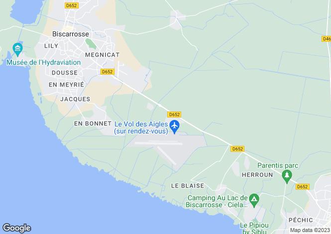 Map for Biscarrosse, Landes