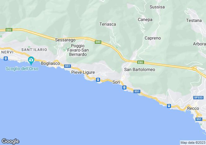 Map for Liguria, Genoa, Pieve Ligure