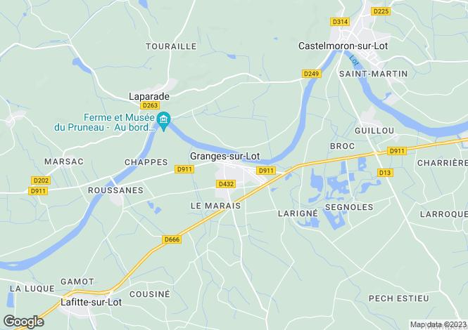Map for Granges-sur-Lot, Lot et Garonne