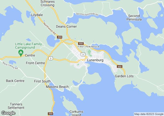 Map for Nova Scotia, Lunenburg