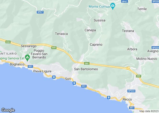 Map for Via Francesco Crispi, Sori, Liguria, Italy