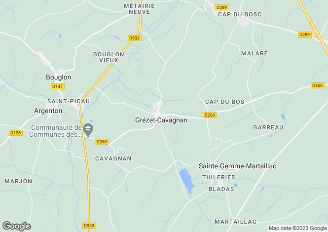 Map for grezet-cavagnan, Lot-et-Garonne, France