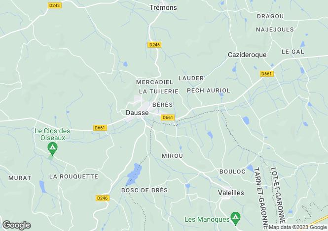 Map for dausse, Lot-et-Garonne, France
