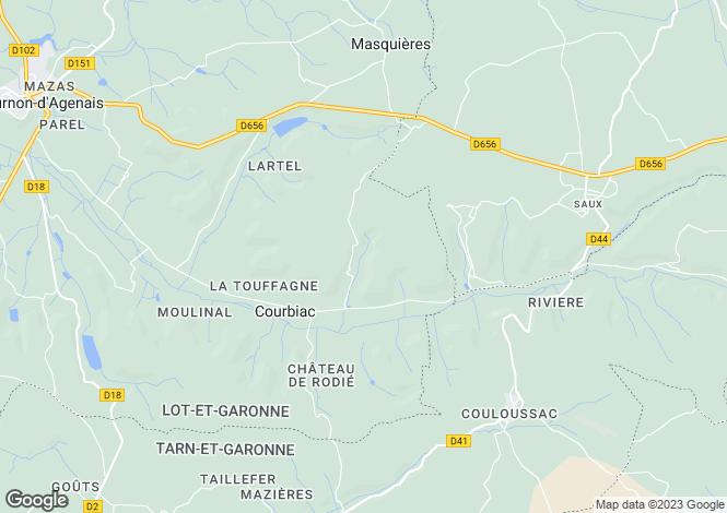 Map for courbiac, Lot-et-Garonne, France