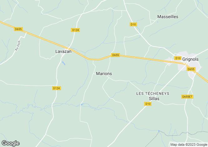 Map for Grignols, Aquitaine, 33690, France