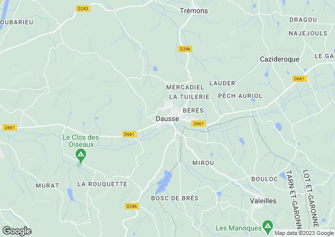 Map for Secteur: Dausse, Lot et Garonne