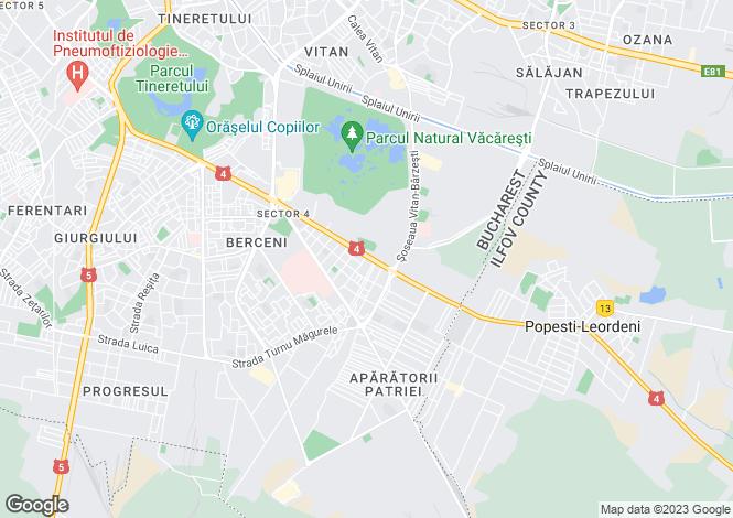 Map for Bucharest, Bucuresti
