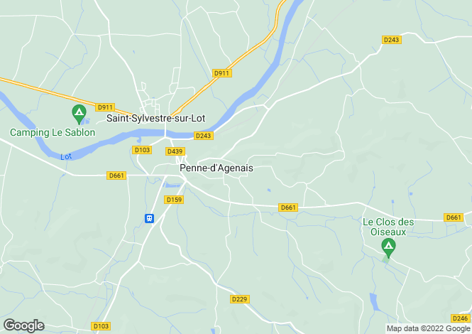 Map for penne-d-agenais, Lot-et-Garonne, France