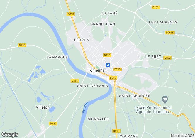 Map for Secteur: Villeneuve Sur Lot , Lot et Garonne