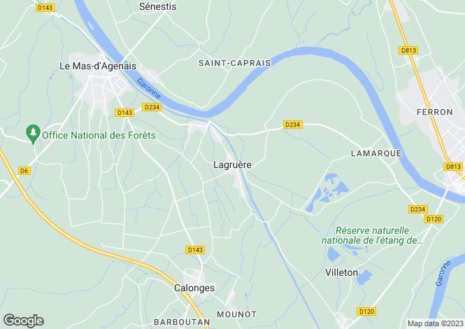Map for Secteur: Tonneins, Lot et Garonne