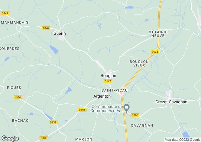 Map for bouglon, Lot-et-Garonne, France
