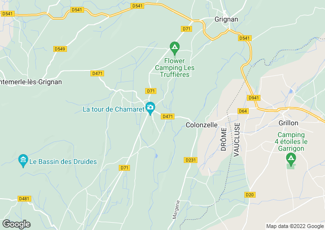 Map for Chamaret, Drome