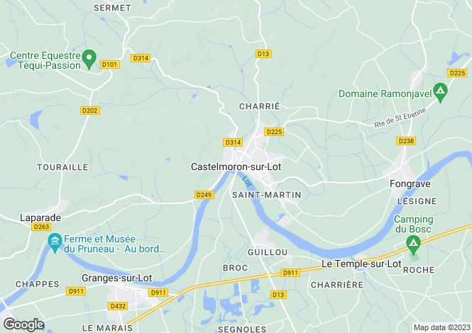 Map for Castelmoron-Sur-Lot, Aquitaine, 47260, France