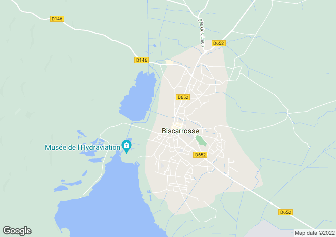 Map for biscarrosse, Landes, France