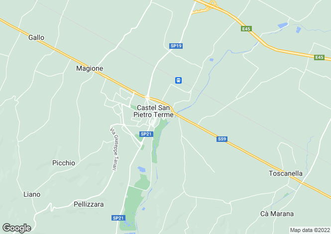 Map for Emilia-Romagna, Bologna, Cast�l San Pietro Terme