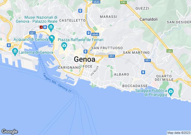 Map for Liguria, Genoa, Genoa