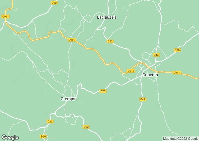 Map for cremps, Lot, France