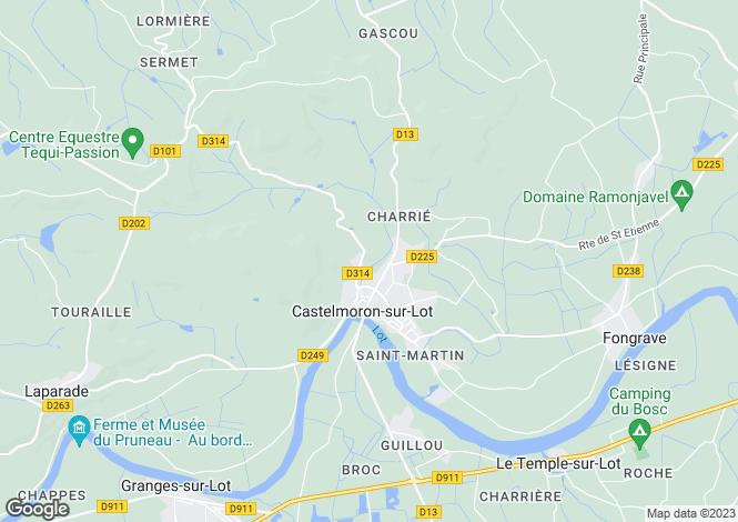 Map for Castelmoron-sur-Lot, Lot-et-Garonne, Aquitaine