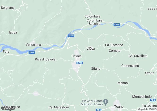 Map for Emilia-Romagna, Reggio nell`Emilia, Cavola