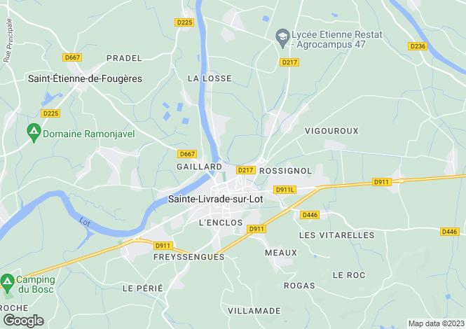 Map for Aquitaine, Lot-et-Garonne, Ste-Livrade-sur-Lot
