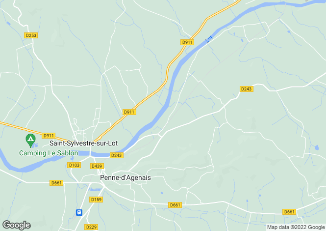 Map for Banks Of The River Lot, Near Penne D'Agenais, Lot-Et-Garonne
