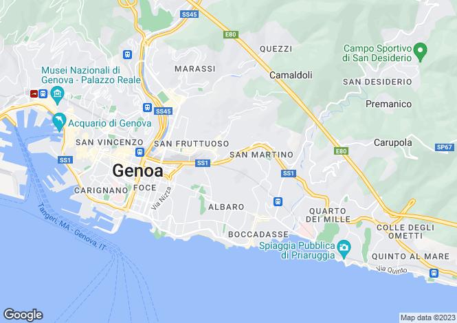 Map for Via San Martino, Genova, 16100, Italy