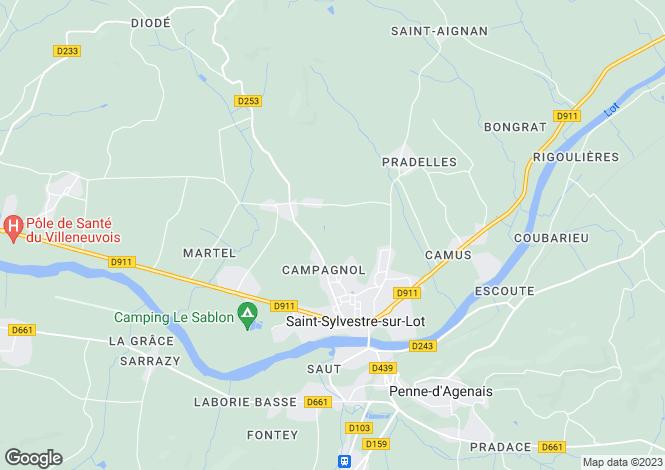 Map for st-sylvestre-sur-lot, Lot-et-Garonne, France