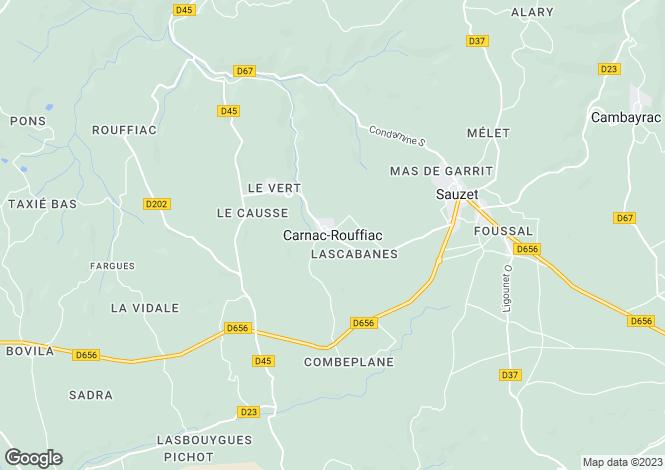 Map for Secteur: Prayssac, Lot