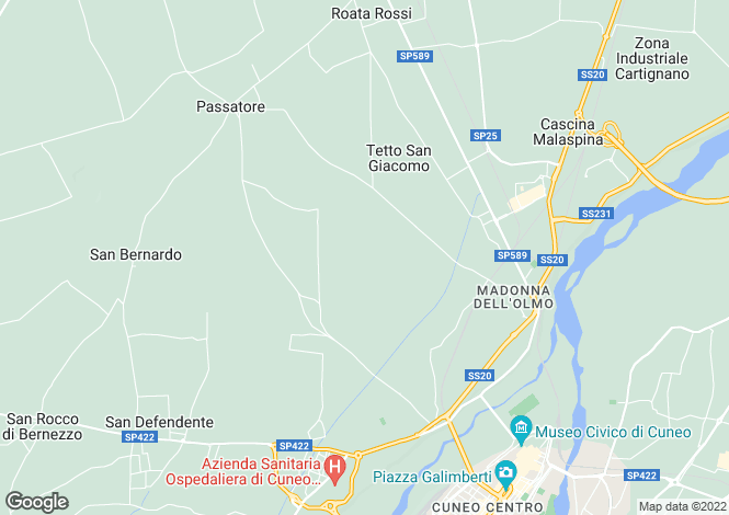 Map for Cuneo, Cuneo, Piedmont