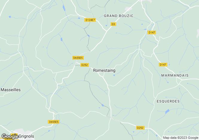 Map for Aquitaine, Lot-et-Garonne, Romestaing