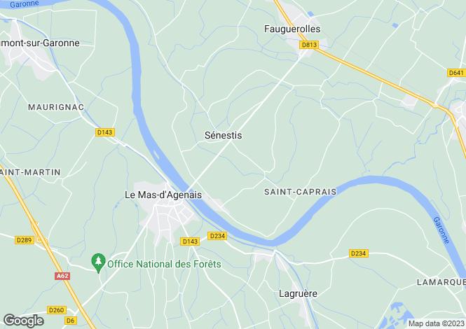 Map for Sénestis, Lot-et-Garonne, Aquitaine