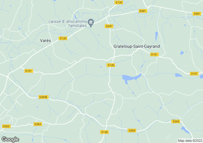 Map for GRATELOUP ST GAYRAND, Lot et Garonne, S.W France - Aquitaine,
