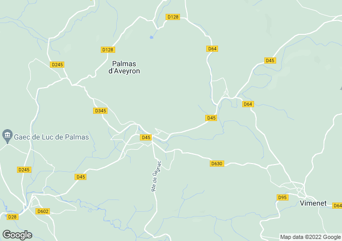 Map for Midi-Pyrenees, Aveyron, Coussergues