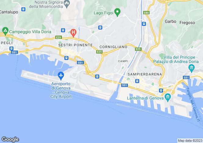 Map for Via Bordone, Genova, 16100, Italy